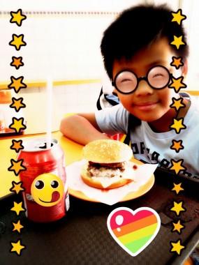 雙層漢堡芝士包  - Si Sun Fast Food in Hung Hom