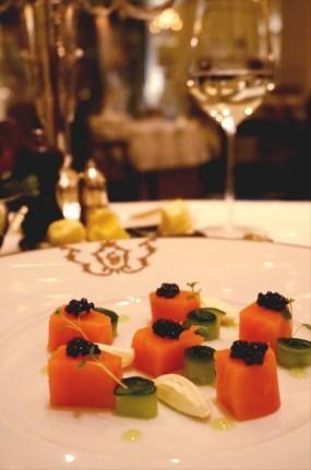 Balik salmon with Oscietra caviar - Gaddi's in Tsim Sha Tsui