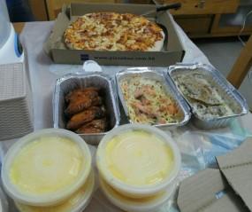 千島夏威夷(大批)、吞拿魚焗飯、三文魚意粉、BBQ雞翼、忌廉甘荀湯 - Pizza-Box in Tuen Mun
