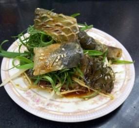 蒸蔥花魚皮 - Wai Kee Noodle Cafe in Sham Shui Po )