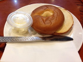 Bagel with cream cheese - Crema in Tsim Sha Tsui )