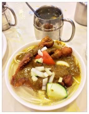 下午茶咖喱豬扒米線+魚蛋 - Curry King in Tai Po
