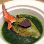 簡單的菠菜汁更能帶出蟹肉的鮮味