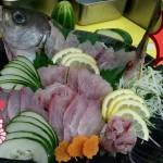 白身魚刺身薄切加自製酸汁非常鮮味!