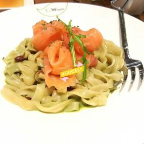 煙鮭魚抹茶奶油手作麵 - 荃灣的茶木‧台式休閒餐廳